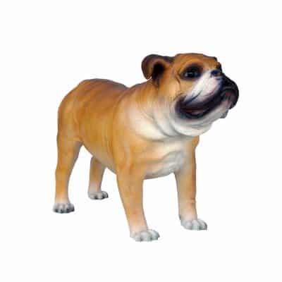 פסל כלב בולדוג