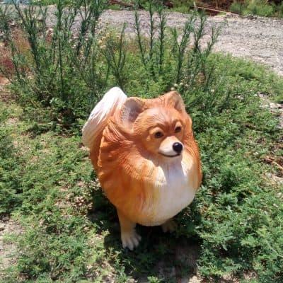 פסל של כלב פומרניין