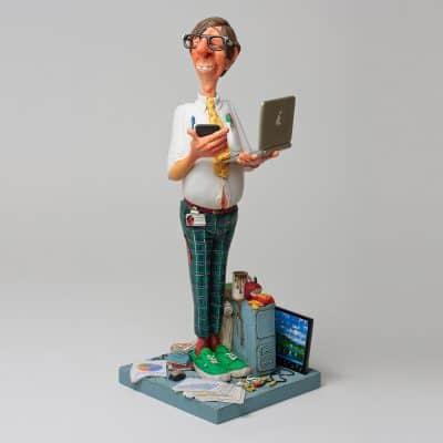 פסל של איש מחשבים