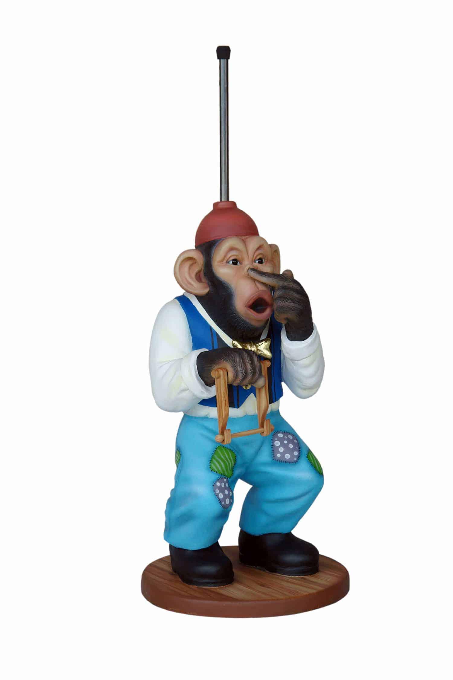 קוף מתקן לנייר טואלט