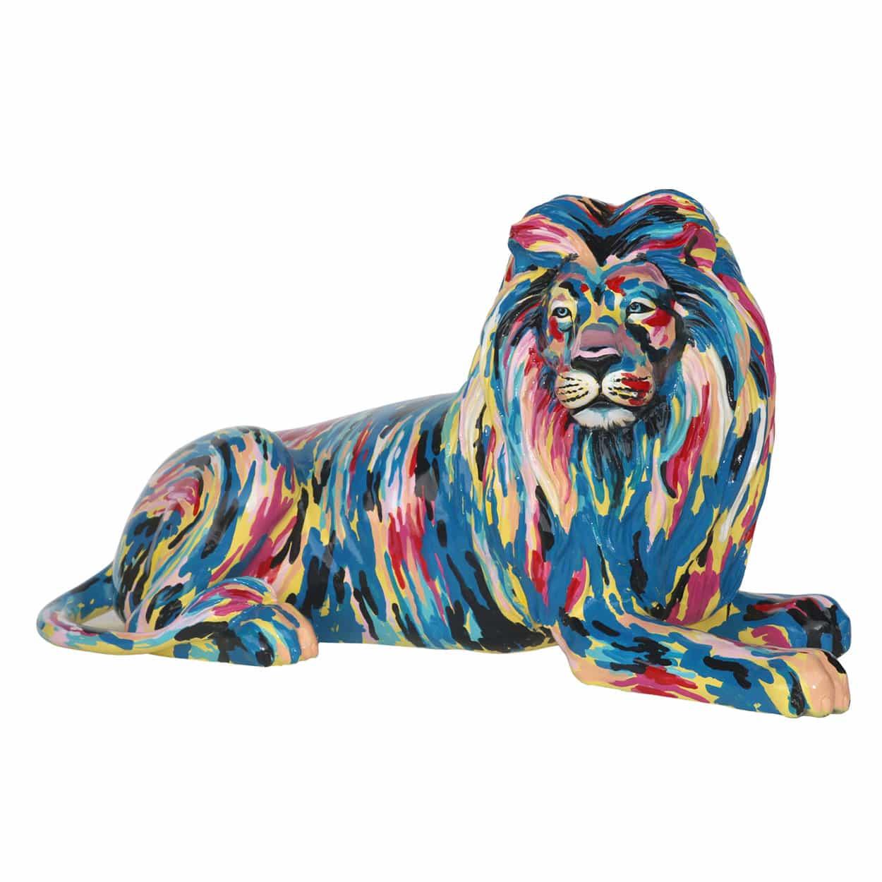 פסל של אריה בפופ ארט