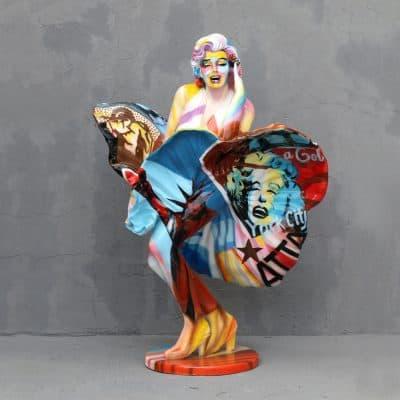פסל של מרלין מונרו בפופ ארט