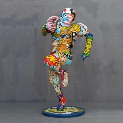 פסל שחקן פוטבול בפופ ארט