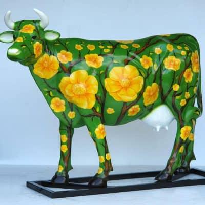 פרה פרחים צהובים