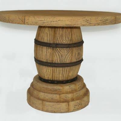 שולחן חבית יין