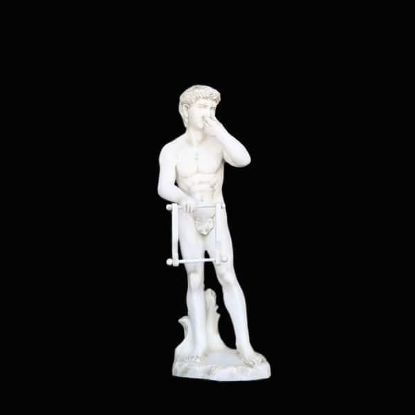 פסל דוד מתקן לנייר טואלט