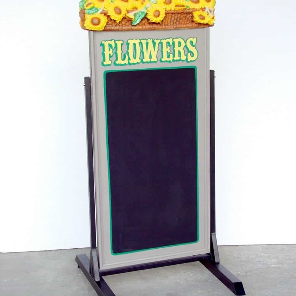 לוח גיר פרחים