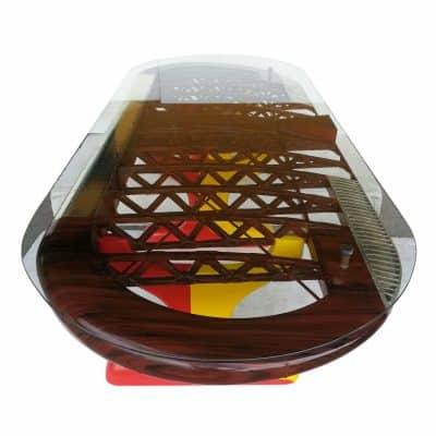 שולחן כנף אובלי