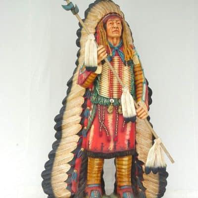 פסל של אינדיאני צ'יף