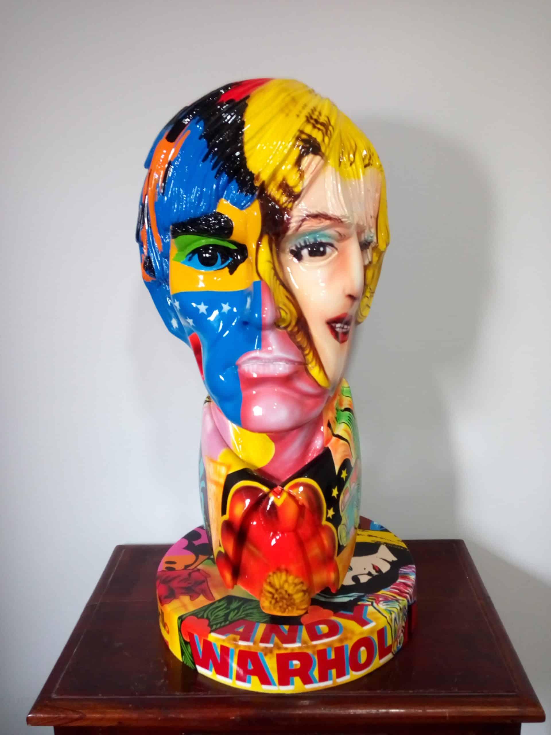 פסל של אנדי וורהול בפופ ארט