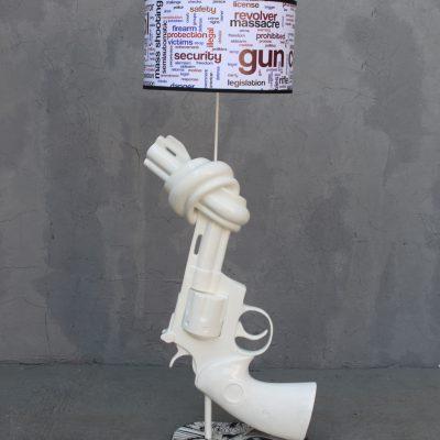 מנורת אקדח אהיל לבן