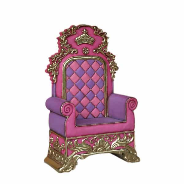 כיסא מלך ורוד סגול
