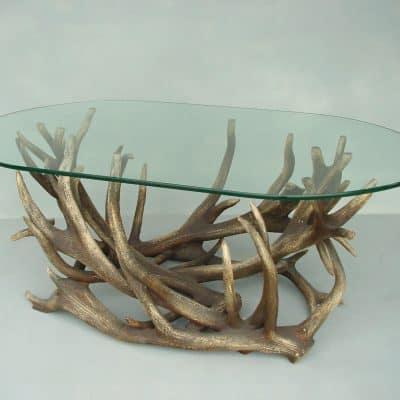 שולחן סלון קרניים אובלי