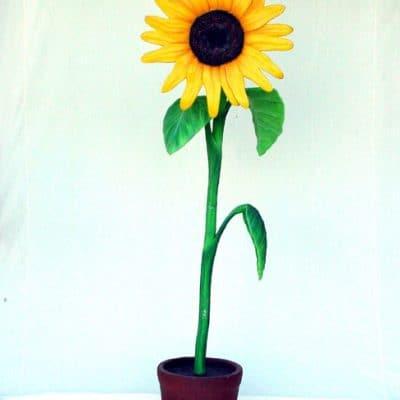 פסל פרח חמנייה קטן