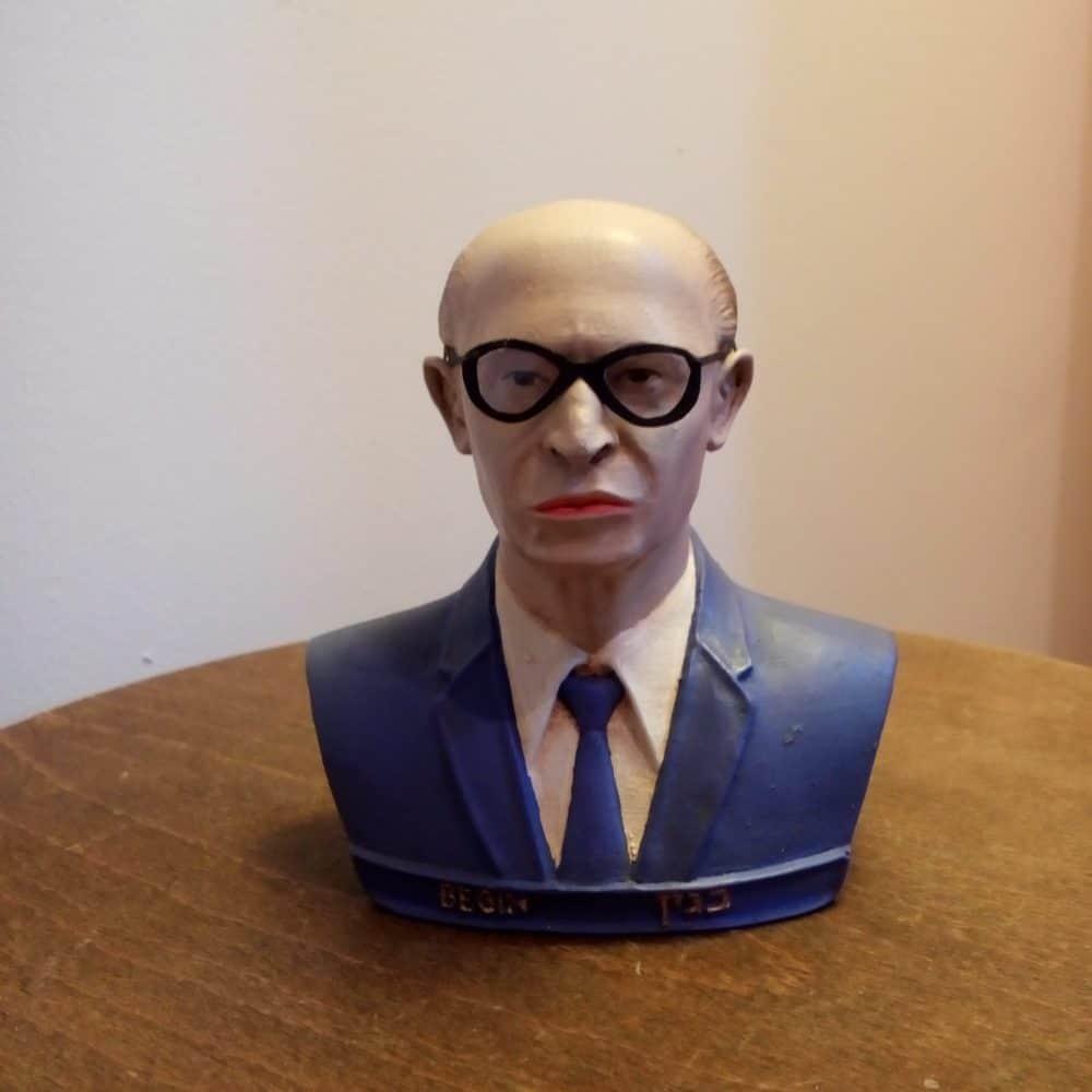 פסל ראש של מנחם בגין