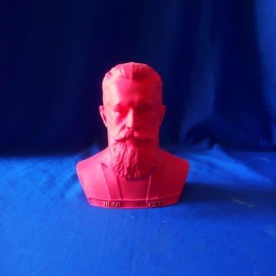 פסל ראש של הרצל אדום