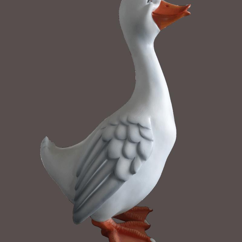 פסל של אווז בקומיקס