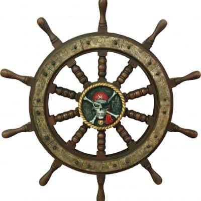 הגה של ספינת פיראטים