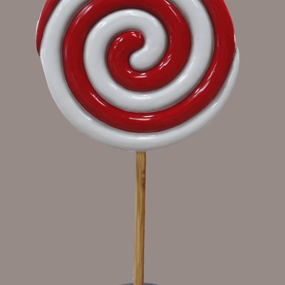 פסל סוכריה על מקל ספירלה