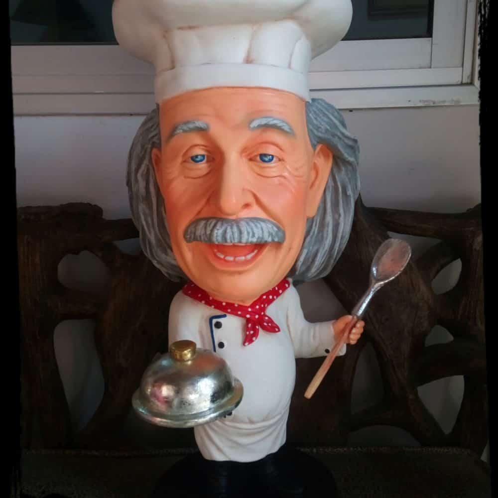 פסל של איינשטיין שף