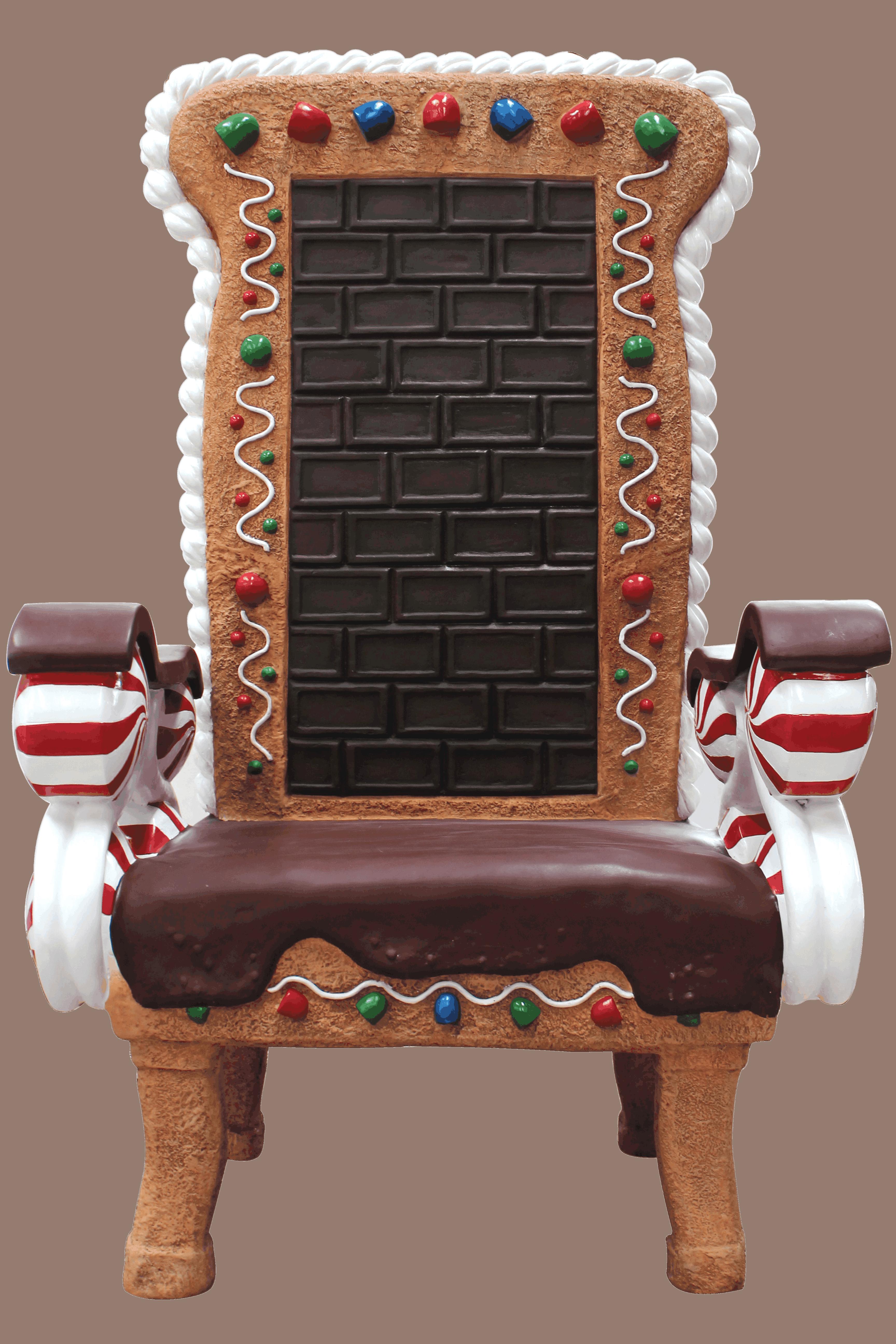 כיסא מעוצב משוקולד וסוכריות