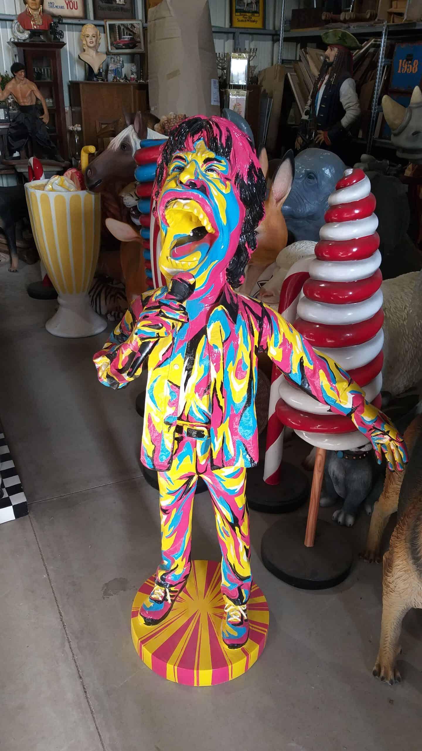 פסל של מיק ג'אגר בפופ ארט